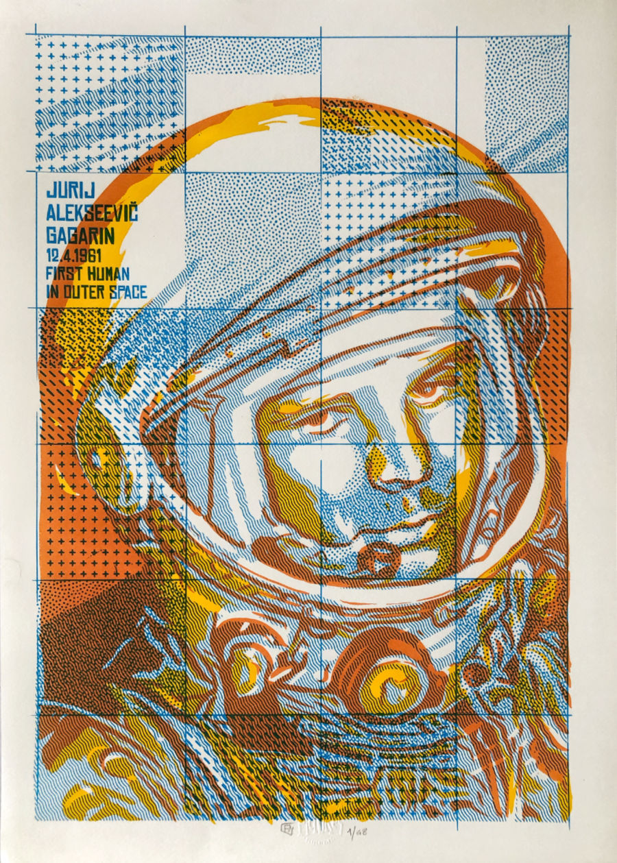 Yuri Gagarin Art Print